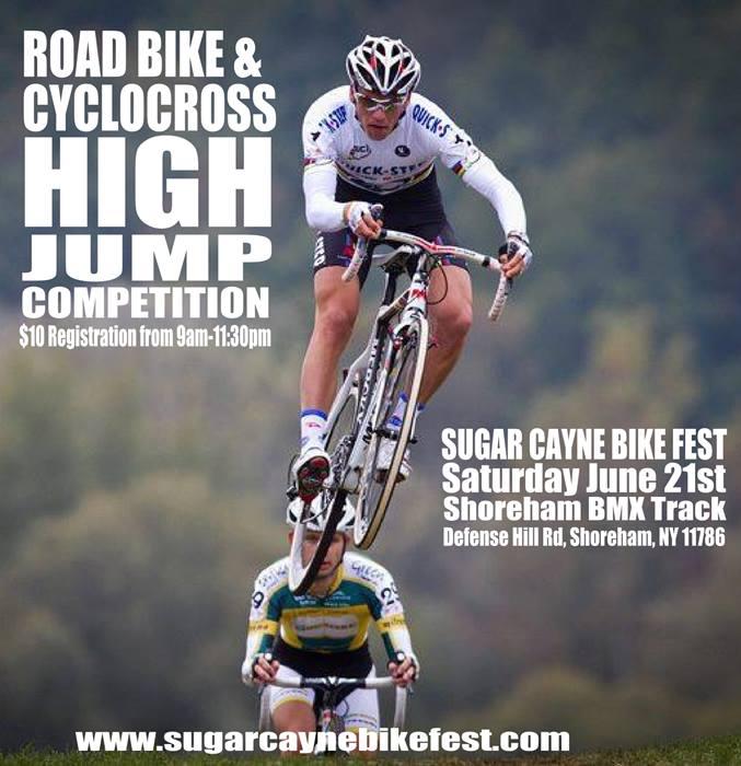 road bike high jump