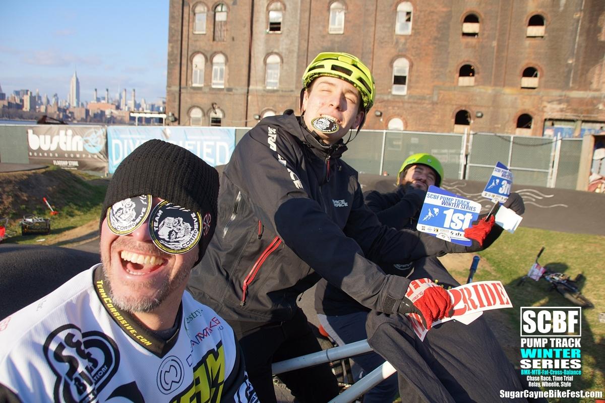 Steve, Seth, Geoff, Brooklyn Bike Park